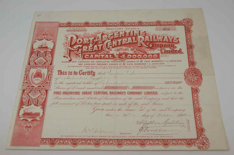 Port Argentine Great Central Railway Company Limited